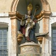 St Nicholas, wooden statue 18 th  century   Auxerre France — Stock Photo