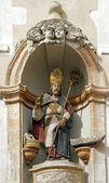 St Nicholas, wooden statue 18 ème century ( Auxerre France) — Stock Photo