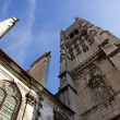Stock Photo: Cathedral of Auxerre, gone up towards heavens (Burgundy France)
