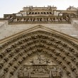 Notre-Dame-de-Paris, sculpture of the portal (Paris France) — Foto Stock
