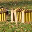 Stock Photo: Mortars for fireworks, implementation