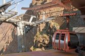 Cable railway in the stop, Madeira (Portugal) — Stock Photo