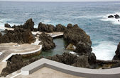 Swimming pool of sea water, Porto Moniz, northwest of Madeira — Stock Photo