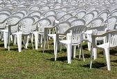 Empty seats, outdoor concert, ended or not yet begun show — Stock Photo