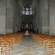 Foto Stock: Inside of cathedral St Etienne, Auxerre, France