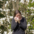 Stock Photo: Hay fever, allergic rhinitis, at beginning of spring