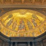 Basilica of Saint Paul Outside the Walls, internal mosaic, Rome, Italy — Stock Photo #24549423