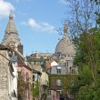 Stock Photo: Street in district of Montmartre (Paris France)