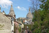 A street in the district of Montmartre (Paris France) — Stock fotografie