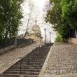 Staircase for the Sacred Heart, Montmartre (Paris France) — Stock Photo