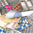Money and medicine, the pharmaceutical industry — Stock Photo
