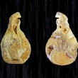 Stone in the shape of pear, internal outside of an agate — Stock Photo
