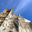 Stock Photo: Cathedral St Etienne, Auxerre France, perspective towards sky