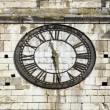 Old clock on a bell tower of church, time measure — Stock Photo