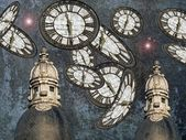 The guards of settled time, time and space — Stock Photo