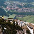 A view from Tegelberg mountain, Germany - Stock Photo