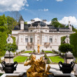 Fountain in the Linderhof castle yard - Stock Photo