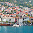 Makarska old city center and harbor - Stock Photo