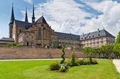 Michaelsberg Abbey yard, Bamberg — Stock Photo