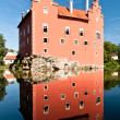 Červená Lhota Castle reflection — Stock Photo