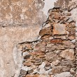 Old cracked wall background — Stock Photo
