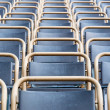 Outdoor theater seats closeup — Stock Photo