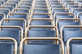Outdoor theater seats closeup — Stock Photo