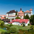 River around Jindrichuv Hradec Castle — Stock Photo #32740931