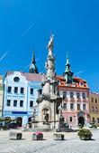 Trinity column, Jindrichuv Hradec — Stock Photo