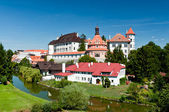 River around Jindrichuv Hradec Castle — Stock Photo