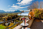 Alps view telescope in Salzburg, Austria — Stock Photo