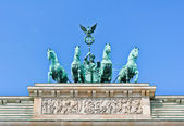 The Brandenburg Gate quadriga close view — Foto Stock