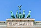The Brandenburg Gate quadriga close view — Stockfoto