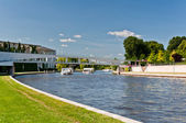 Spree river in the Berlin city center — Stock Photo