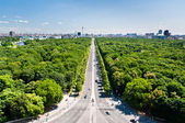 Tiergarten and Berlin citry center ponarama view — Stock Photo