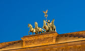 Illuminated Brandenburg Gate quadriga — Stock Photo