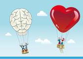 Raison et l'émotion des ballons — Vecteur