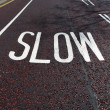 Slow sign — Stock Photo