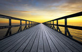 Infinite pier — Stock Photo