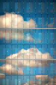 Sky reflected in glass — Foto Stock