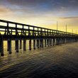 Pier in sunset — Stock Photo