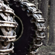 Wheels of heavy vehicle - Stock Photo