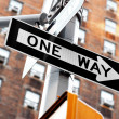 Stock Photo: One way sign