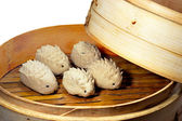 Steamed dumplings — Stockfoto