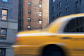Yellow cab in New York — Stock Photo