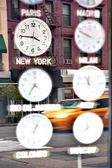纽约时间 — 图库照片