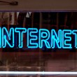 Internet neon sign — Stock Photo