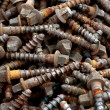 Stock Photo: Rusty screws