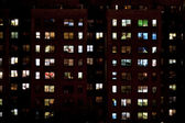Block of flats at night — Stock Photo