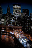 Manhattan and FDR drive — Stock Photo